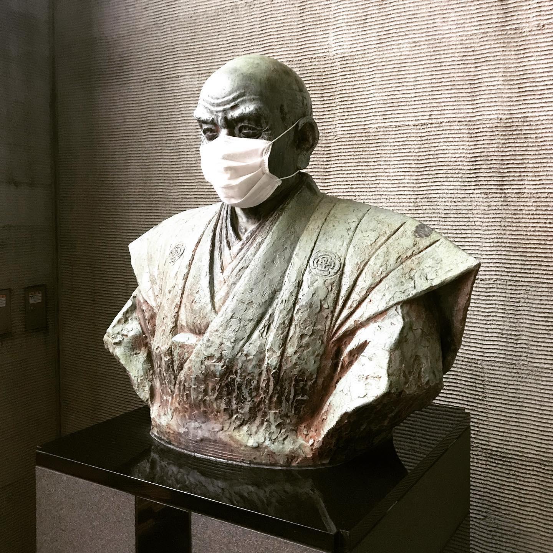 二宮尊徳先生もマスクしてました。#湘南ジャーナル#shonanjournal #hiratsukagood